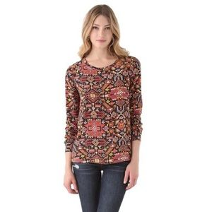 Equipment Liam southwest Aztec silk top